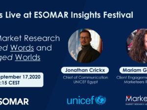 Join Us at ESOMAR Insights Festival 2020!