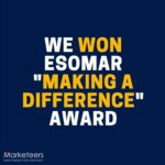 "WINNER of ""Making a Difference"" Award By ESOMAR"